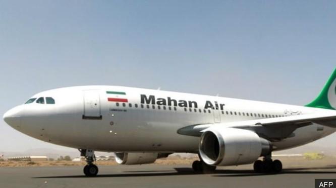 Máy bay của Công ty hàng không Mahan. Ảnh: BBC