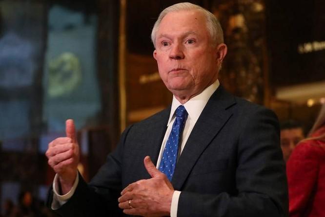 Ông Jeff Sessions được ông Donald Trump chọn làm Bộ trưởng Tư pháp Mỹ. Ảnh: Wall Street Journal