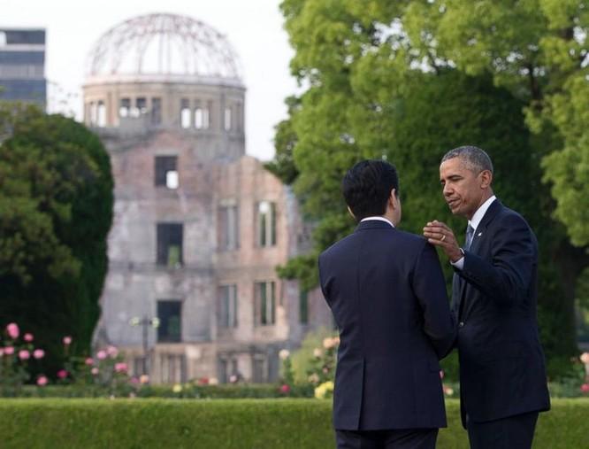 Tháng 5/2016, Tổng thống Mỹ Barack Obama thăm Hiroshima. Ảnh: ABC News