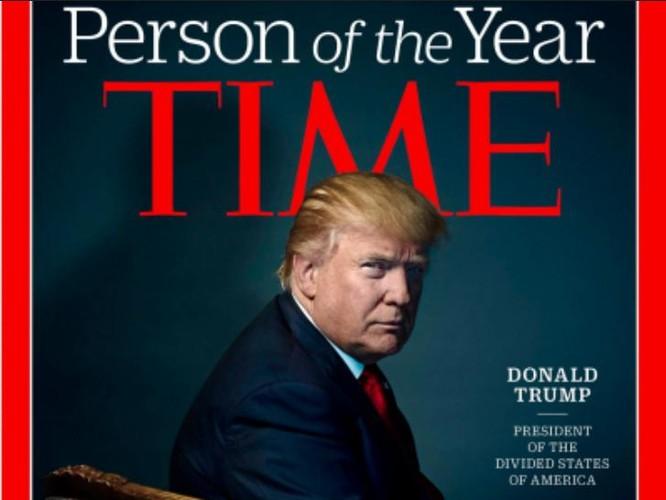 Tổng thống đắc cử Mỹ Donald Trump trên bìa tạp chí Time. Ảnh: Business Insider