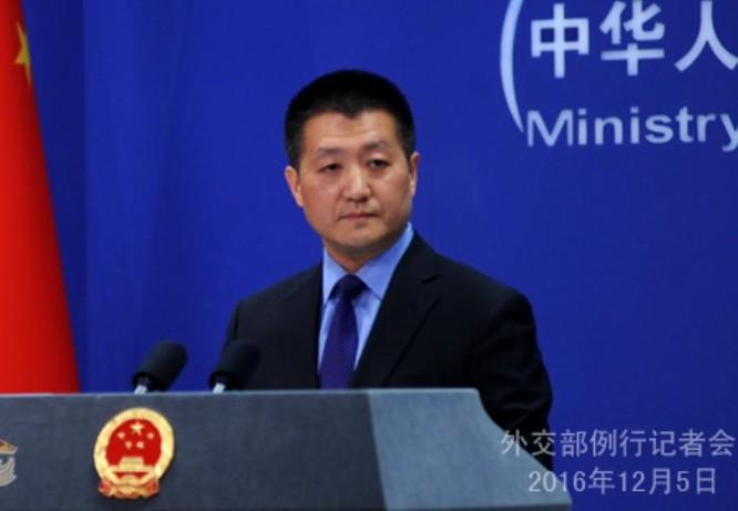 Lục Khảng, phát ngôn viên Bộ Ngoại giao Trung Quốc. Ảnh: fmcoprc.gov.hk