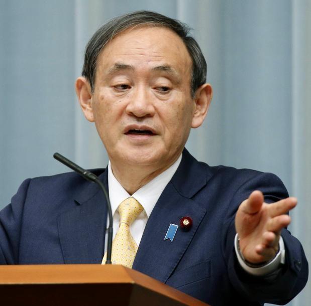 Chánh văn phòng nội các Nhật Bản Yosshihide Suga. Ảnh: The Japan Times