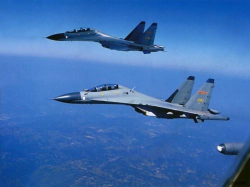 Máy bay chiến đấu Su-30MKK Không quân Trung Quốc (ảnh tư liệu)