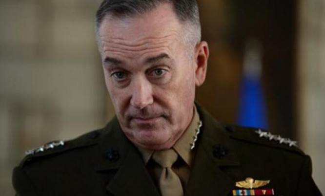 Đại tướng Joseph Dunford, Chủ tịch Hội đồng Tham mưu trưởng Liên quân Mỹ. Ảnh: Sina