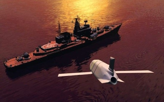 Mô phỏng tên lửa chống hạm tầm xa LRASM của Mỹ tấn công (ảnh tư liệu)