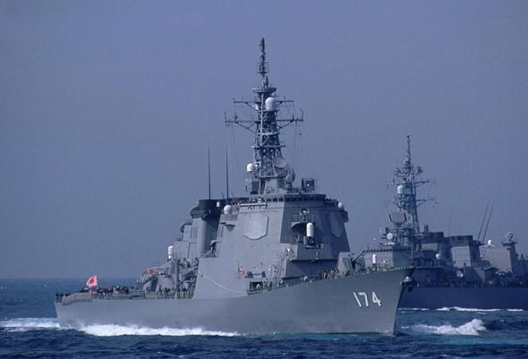 Tàu khu trục Aegis của Lực lượng Phòng vệ Biển Nhật Bản (ảnh tư liệu)