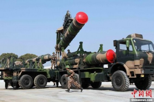 Hệ thống tên lửa phòng không HQ-9 của Quân đội Trung Quốc (ảnh tư liệu)