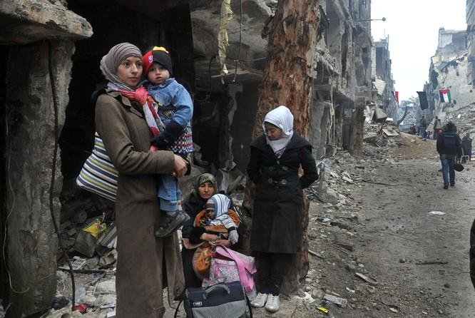 Nạn nhân chiến tranh ở Syria.