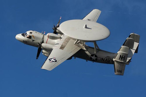 Máy bay cảnh báo sớm E-2D Hải quân Mỹ (ảnh tư liệu)
