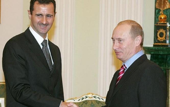 Tổng thống Syria Bashar al-Assad và Tổng thống Nga Vladimir Putin. Ảnh: The Telegraph