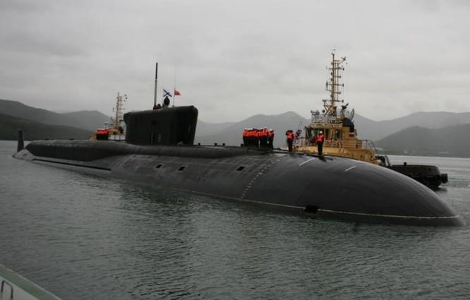 Tàu ngầm hạt nhân chiến lược lớp Borey Nga. Ảnh: Sputnik