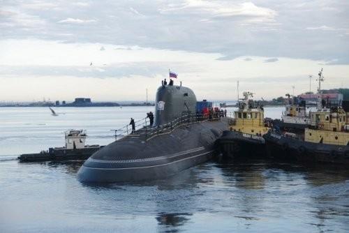 Tàu ngầm hạt nhân tấn công Severodvinsk lớp Yasen Type 855 Hải quân Nga (ảnh tư liệu)