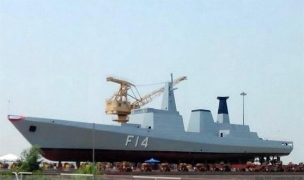 Tàu hộ vệ F14 do Myanmar tự chế tạo (ảnh tư liệu)