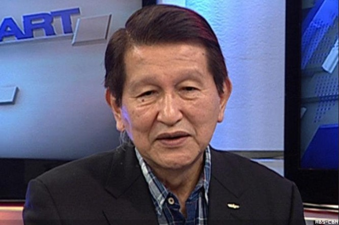 Cựu Cố vấn an ninh quốc gia Philippines Roilo Golez. Ảnh: ABS-CBN News