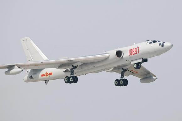 Máy bay ném bom chiến lược H-6K Trung Quốc (ảnh tư liệu)