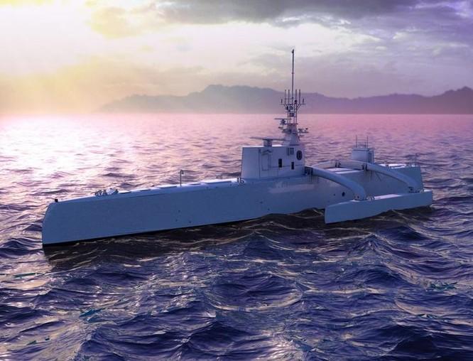 Tàu săn ngầm không người lái (ACTUV) Mỹ. Ảnh: Cankao