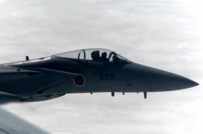 Máy bay chiến đấu F-15 của Lực lượng Phòng vệ Trên không Nhật Bản cất cánh đánh chặn máy bay quân sự Trung Quốc. Ảnh: Cankao