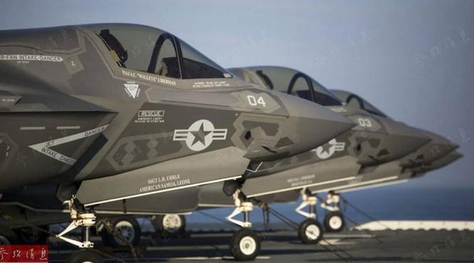 Cụm máy bay chiến đấu tàng hình thế hệ thứ năm F-35B Thủy quân lục chiến Mỹ (ảnh tư liệu)
