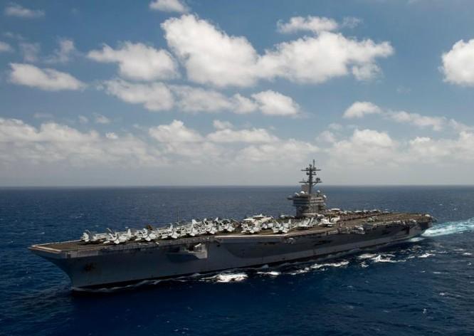 Tàu sân bay động cơ hạt nhân USS Carl Vinson Hải quân Mỹ (ảnh tư liệu)