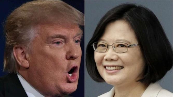 Tổng thống đắc cử Mỹ Donald Trump và nhà lãnh đạo Đại Loan Thái Anh Văn. Ảnh: South China Morning Post