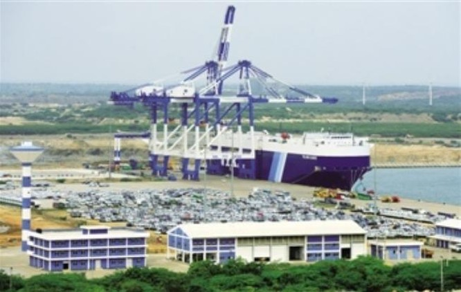 Bến cảng Hambantota của Sri Lanka do Trung Quốc đầu tư xây dựng. Ảnh: Sina
