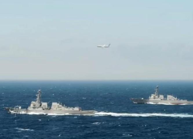 Máy bay săn ngầm Mỹ giám sát hoạt động của tàu chiến, tàu ngầm Trung Quốc trên Ấn Độ Dương. Ảnh: Sina.