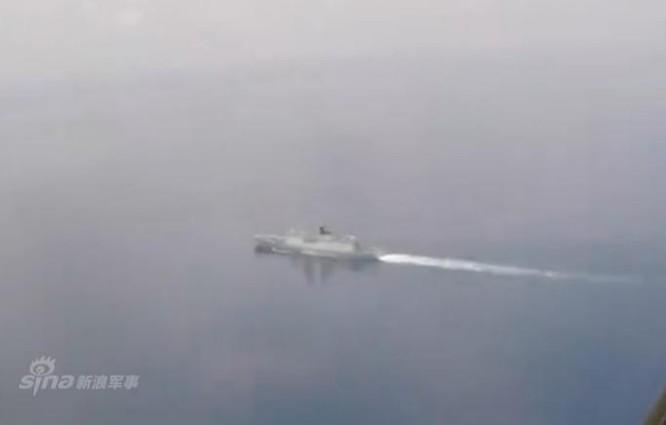 Tàu chiến mặt nước Trung Quốc ở Ấn Độ Dương bị máy bay săn ngầm Mỹ chụp được. Ảnh: Sina