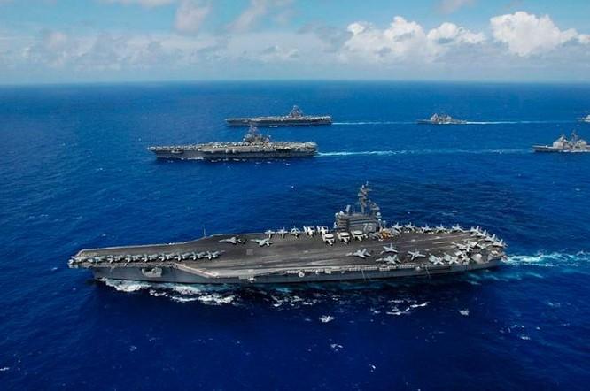 Cụm tấn công tàu sân bay USS Ronald Reagan Hải quân Mỹ (ảnh tư liệu)