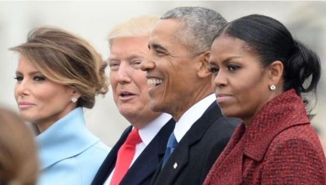 Ông Barack Obama và phu nhân dự Lễ nhậm chức Tổng thống của ông Doanld Trump. Ảnh: Getty Images