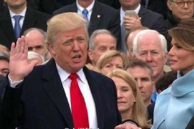Ngày 20 tháng 1 năm 2017, ông Donald Trump nhậm chức, trở thành Tổng thống Mỹ thứ 45. Ảnh: Sohu