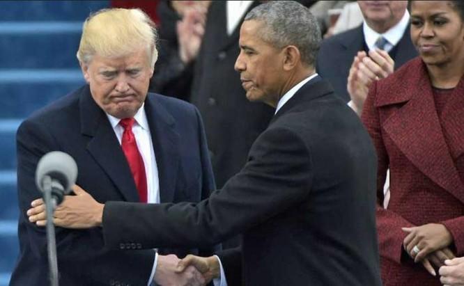 Ông Donald Trump và ông Barack Obama chuyển giao quyền lực. Ảnh: CNN