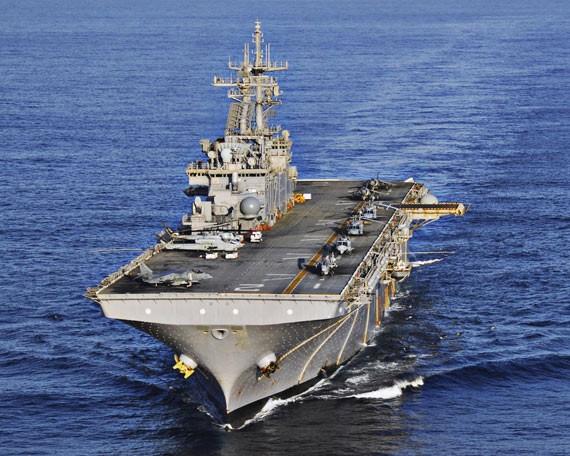 Tàu tấn công đổ bộ USS Essex, Hải quân Mỹ (ảnh tư liệu)