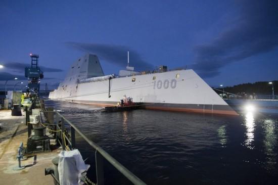 Tàu khu trục USS Zumwallt DDG-1000 của Hải quân Mỹ (ảnh tư liệu)