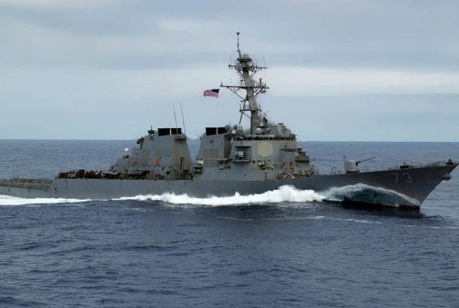 Tàu khu trục USS Decatur Hải quân Mỹ tiến hành tuần tra Biển Đông (ảnh tư liệu)