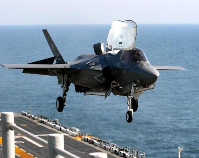Máy bay chiến đấu tàng hình F-35B. Ảnh: Thời báo Hoàn Cầu