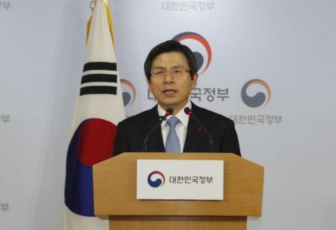 Quyền Tổng thống Hàn Quốc Hwang Kyo-ahn. Ảnh: Cankao