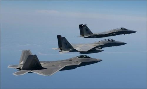 Máy bay chiến đấu tàng hình F-22 Raptor Mỹ