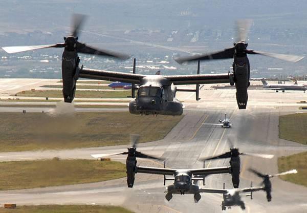 Máy bay vận tải cánh xoay nghiêng V-22 Osprey Mỹ (ảnh tư liệu)