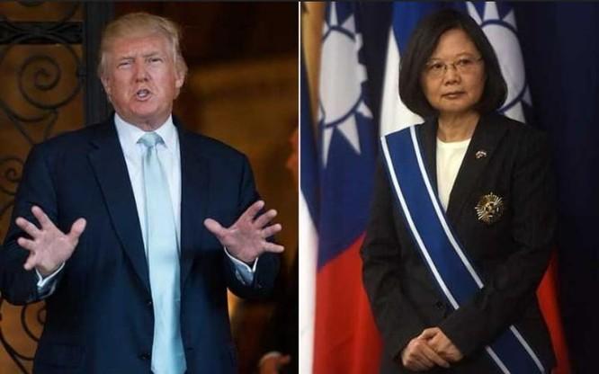 Tân Tổng thống Mỹ Donald Trump và nhà lãnh đạo Đài Loan Thái Anh Văn. Ảnh: The Telegraph