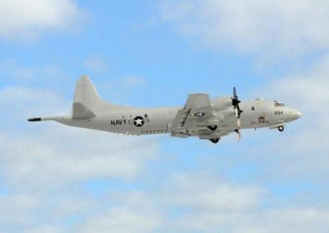 Máy bay tuần tra săn ngầm P-3C Hải quân Mỹ. Ảnh: Sina