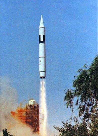 Tên lửa chiến lược Đông Phong-5 Trung Quốc (ảnh tư liệu)