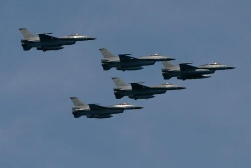 Máy bay chiến đấu F-16A Đài Loan. Ảnh: Sina