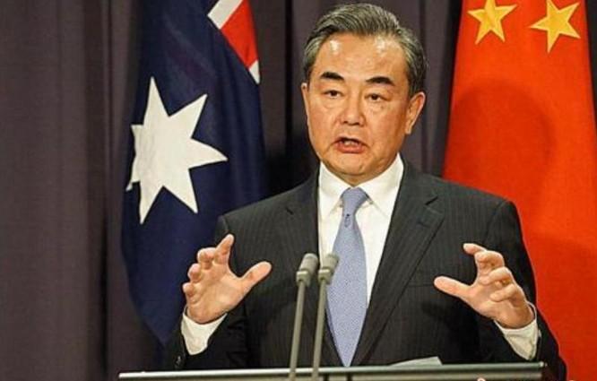 Ngày 7 tháng 2 năm 2017, Bộ trưởng Ngoại giao Trung Quốc Vương Nghị phát biểu ở Australia. Ảnh: Chinanews