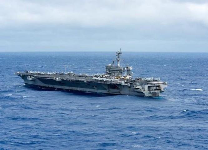 Tàu sân bay động cơ hạt nhân USS Carl Vinson. Ảnh: Sohu