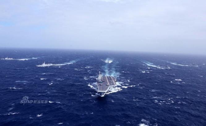 Biên đội tàu sân bay Liêu Ninh, Hải quân Trung Quốc. Ảnh: Sina