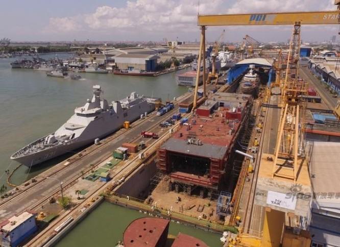 Indonesia đang chế tạo tàu đổ bộ thứ hai cho Philippines. Ảnh: Sina