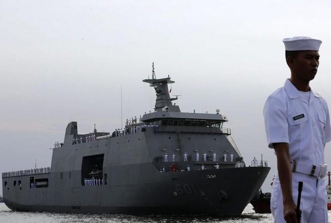 Tàu vận tải chiến lược BRP Tarlac Philippines, do Indonesia chế tạo. Ảnh: Eastday