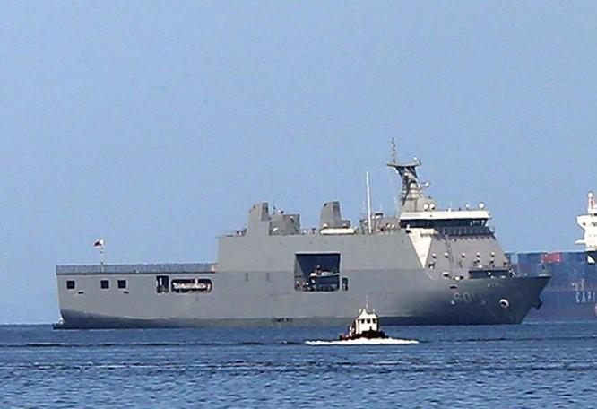 Tàu vận tải chiến lược BRP Tarlac Philippines, do Indonesia chế tạo. Ảnh: Philippine Star