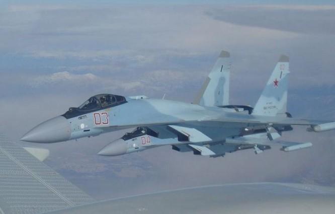 Máy bay chiến đấu Su-35S Nga tham chiến ở Syria. Ảnh: Cankao