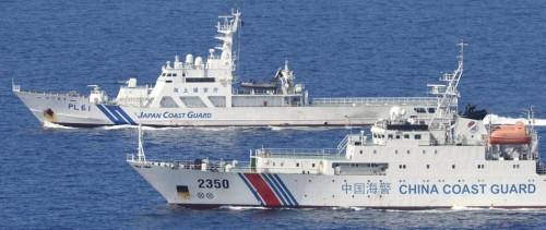 Tàu tuần tra Lực lượng bảo vệ bờ biển Nhật Bản kiên quyết với tàu nước ngoài xâm phạm lãnh hải ở vùng biển đảo Senkaku (ảnh tư liệu)